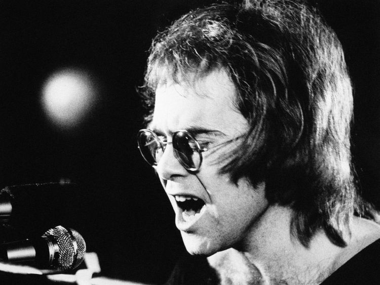 Sir Elton John performing in April 1971 as the singer is to retire from touring after almost 50 years.