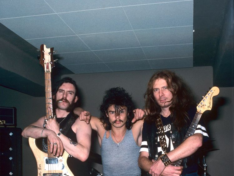 Lemmy, Phil 'Philthy Animal' Taylor, and 'Fast' Eddie Clarke