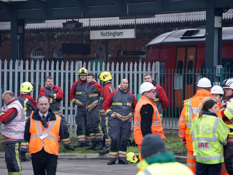 Fire at Nottingham train station