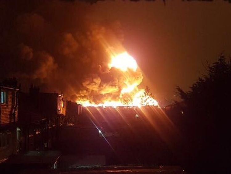 London paint factory blaze sends smoke across city