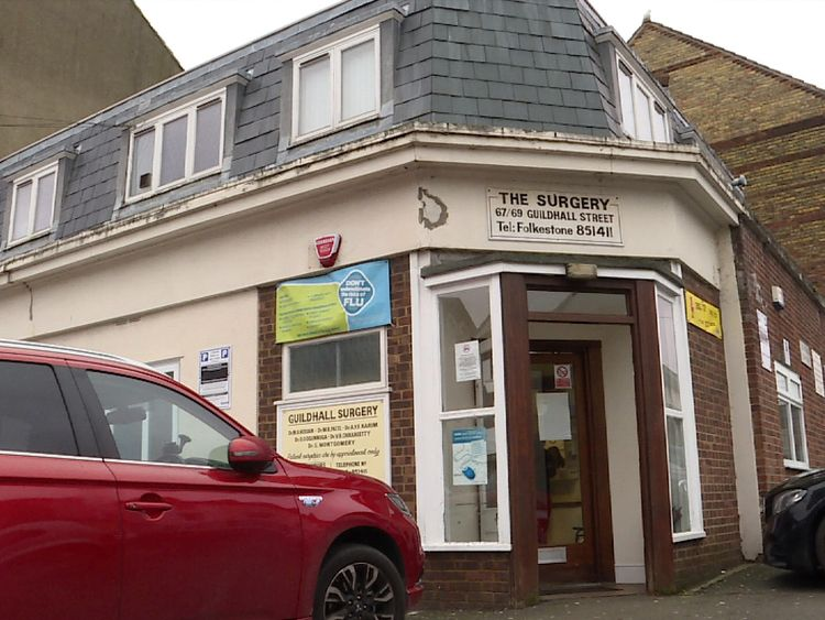 The Guildhall Street Surgery in Folkestone is under huge pressure