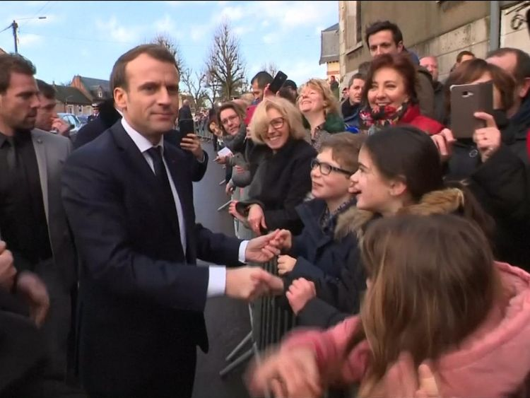 Emmanuel Macron visited Calais earlier this week