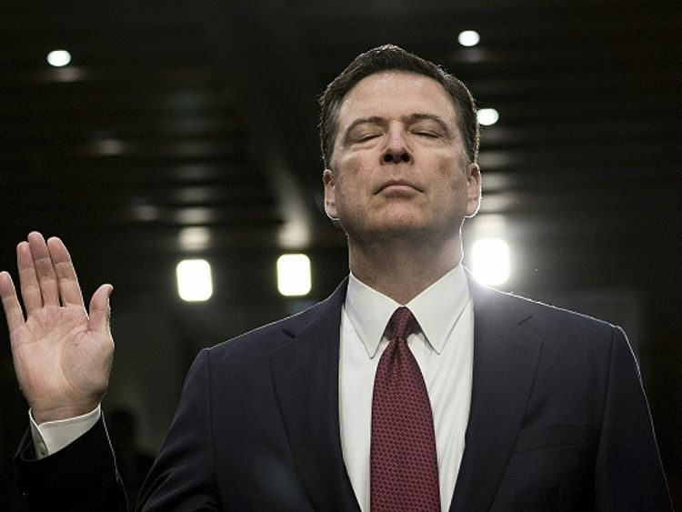 James Comey was sacked as FBI director soon after he was told he had presidential support