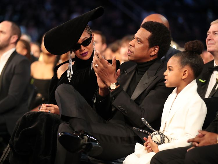 NEW YORK, NY - JANUARY 28: Recording artists Beyonce, Jay Z and daughter Blue Ivy Carter attend the 60th Annual GRAMMY Awards at Madison Square Garden on January 28, 2018 in New York City. (Photo by Christopher Polk/Getty Images for NARAS) Editorial subscription SML 4628 x 3536 px | 39.18 x 29.94 cm @ 300 dpi | 16.4 MP Size Guide Add notes DOWNLOAD AGAIN Details Restrictions: Contact your local office for all commercial or promotional uses. Full editorial rights UK, US, Ireland, Canada (not Que