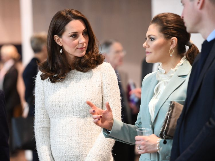 Catherine, Duchess of Cambridge, and Crown Princess Victoria of Sweden