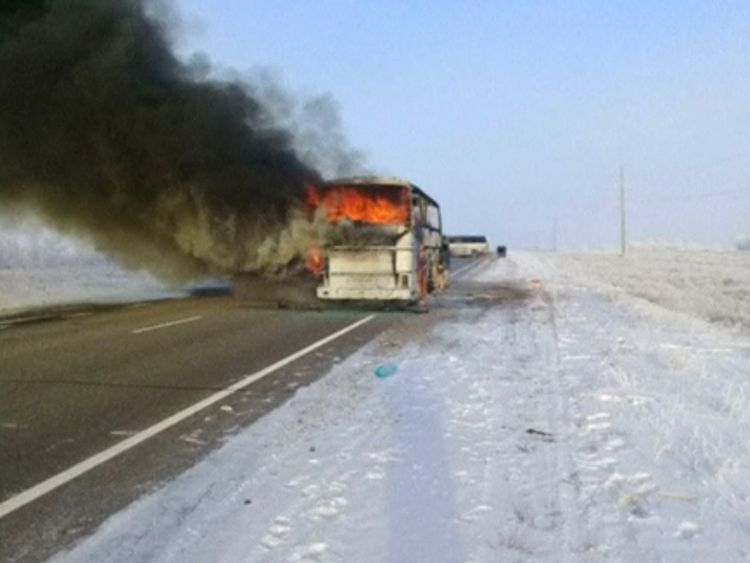 Bus fire kills 52 Uzbeks travelling in Kazakhstan