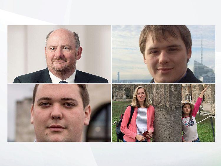 Richard Cousins, Will Cousins, Ed Cousins, Emma and Heather Bowden