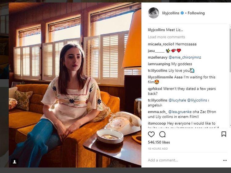 Lily Collins plays Elizabeth Kloepfer Ted Bundy's girlfriend
