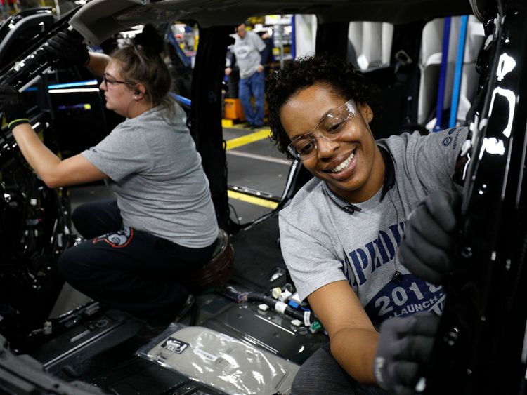 Manufacturing and construction jobs have gone up and unemployment is down