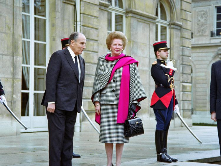 Margaret Thatcher Was Well Known For Her Handbags Pictured In 1990 Paris