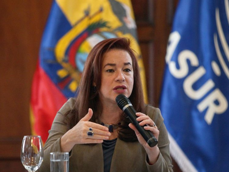 Ecuador's foreign minister made the announcement in Quito