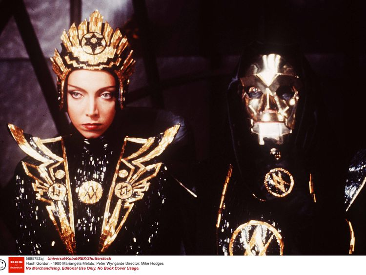 Mariangela Melato and Peter Wyngarde in Flash Gordon