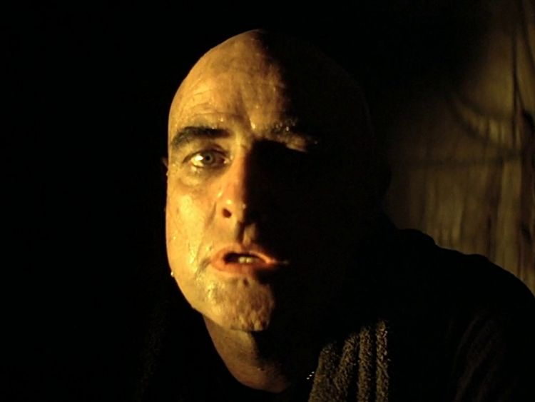 Brando's half-lit face in Apocalypse Now helped shape his character