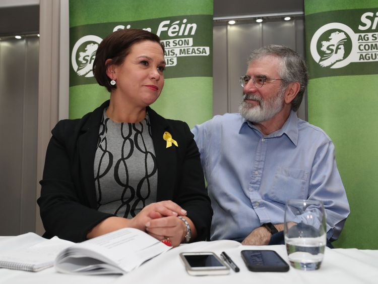 Mary Lou Mc Donald and Gerry Adams