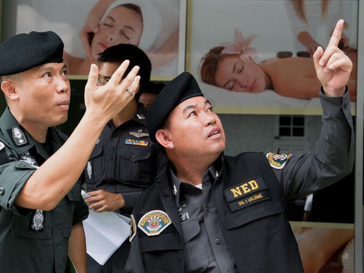 Bangkok police raided 40 brothels