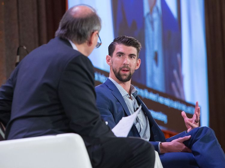 Michael Phelps at The Kennedy Forum National Summit On Mental Health Equity And Justice In Chicago