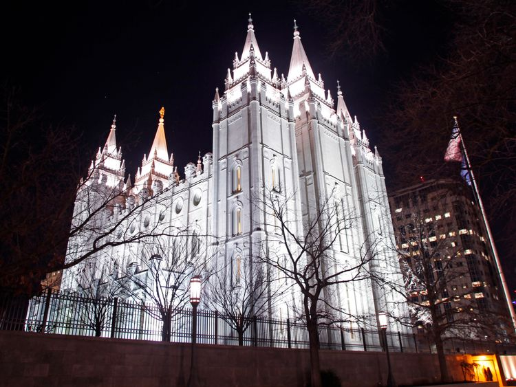 LDS Church's Mormon Temple in Salt Lake City, Utah