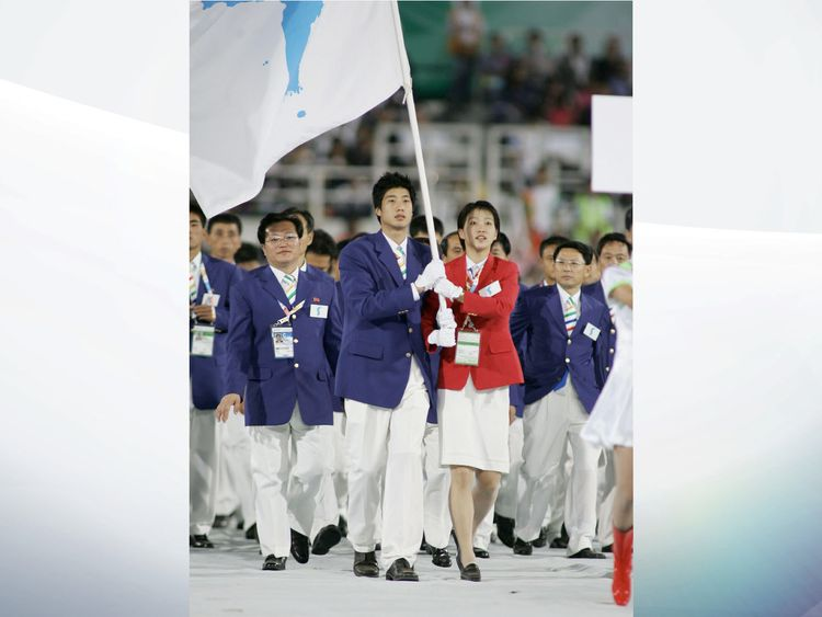One unity flag for joint Koreas Olympic team
