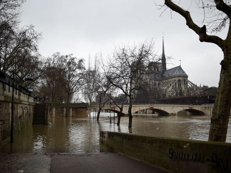 The Seine has risen to 3.3m above normal levels
