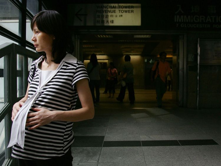 Pregnant woman are among the most affected by the data-sharing. File photo.