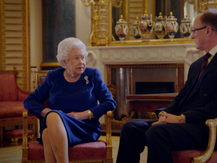 The Queen and Alastair Bruce