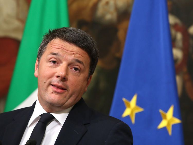 Matteo Renzi fell from office a year ago after calling and losing a referendum David Cameron style
