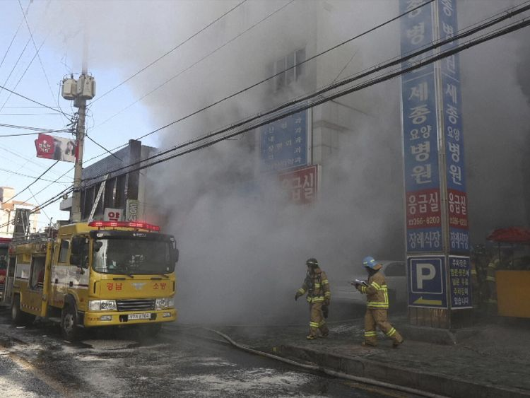 Several fire engines were sent to tackle the blaze