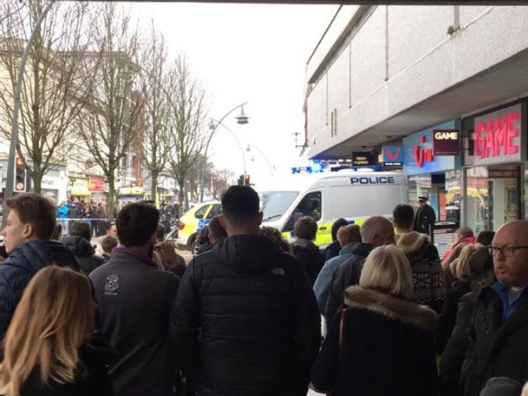 A woman has been taken to hospital following an incident at a shop in Southport. Credit: Luke R Chandley