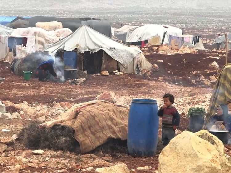 The Syrian Government's fresh assault on the last rebel stronghold inthe country causes thousands to flee