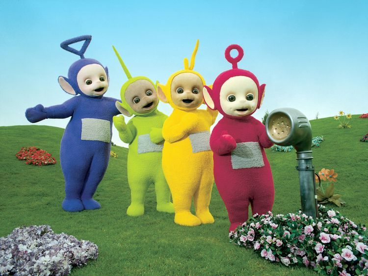 Tinky Winky (far left). Pic: BBC