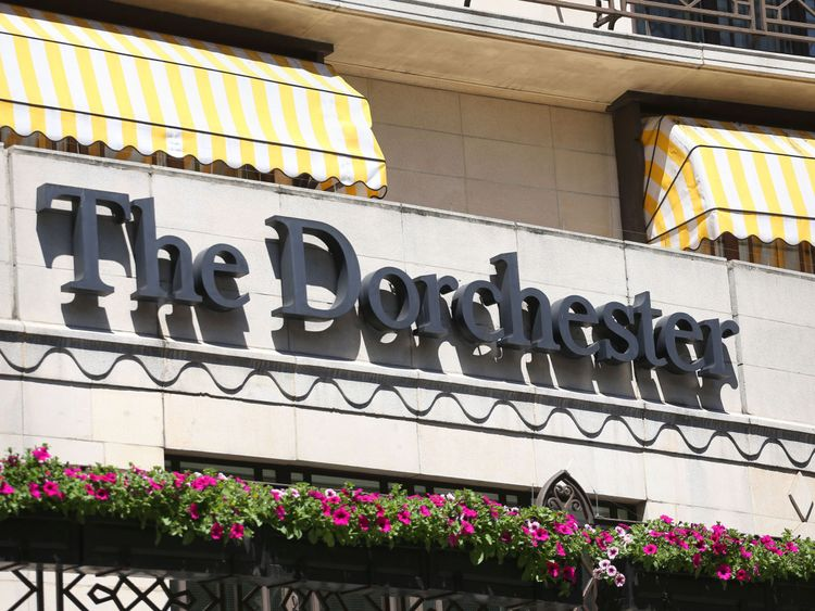 The Dorchester Hotel in London