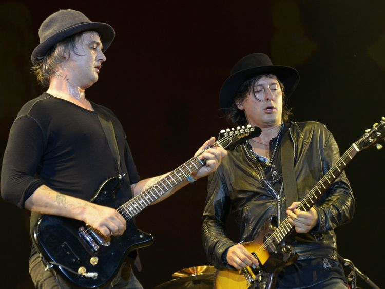 Pete Doherty and Carl Barat of The Libertines