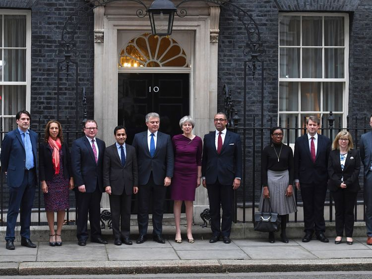 Theresa May and new Conservative Party appointments