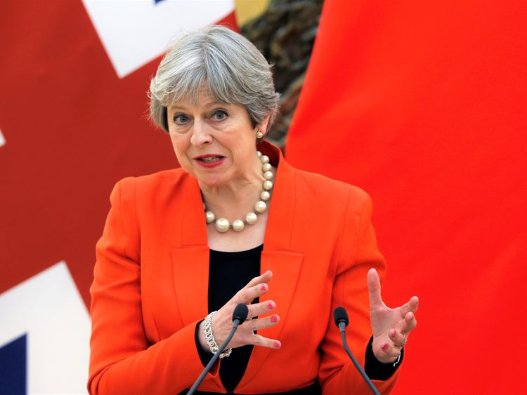 Theresa May in China