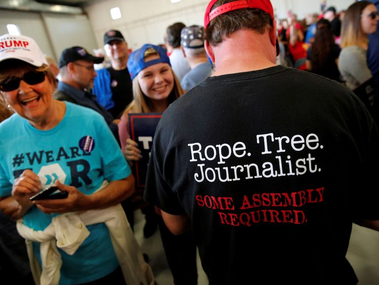 The President's attacks on the media have convinced many of his supporters