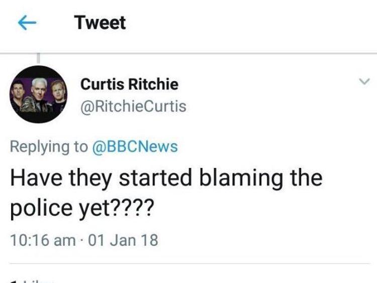 The offending tweet