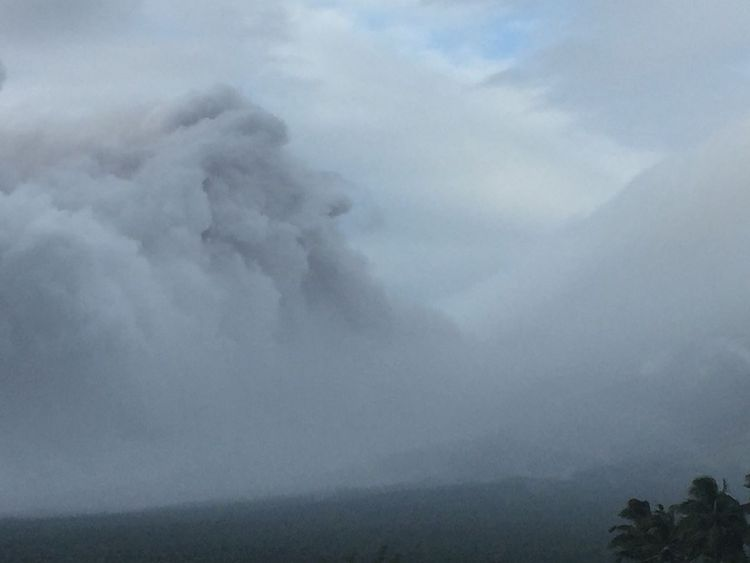 Evacuation after volcano spews ash 2.5km into air