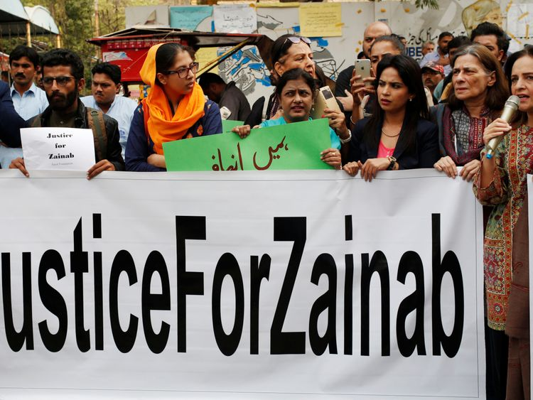 Zainab is the eighth child to be raped and murdered in Kansur in the past 12 months