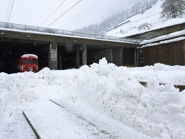 Zermatt's blocked train line is expected to reopen on Wednesday afternoon