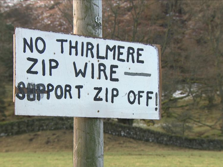 People don't want the zip wire in the Lake District