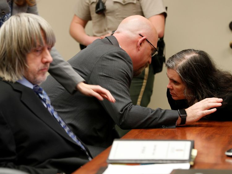 David (L) and Louise Turpin deny the charges against them