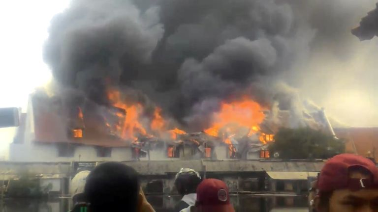 Jakarta's Bahari Maritime Museum set alight on 16 January