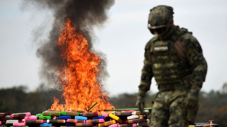Mexico drugs alight