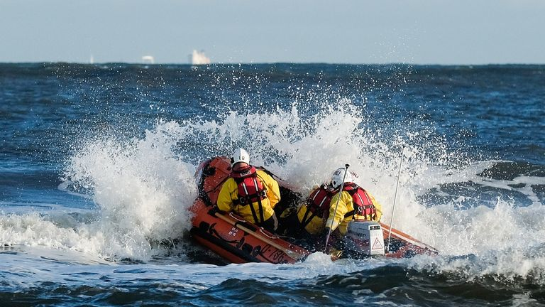Lifeboat crews rescued the group on Wednesday. File pic