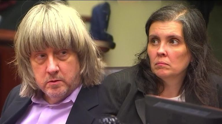 David and Louise Turpin after pleading not guilty in court.