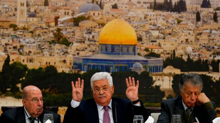 Mr Abbas made the remarks in a two-hour speech in Ramallah