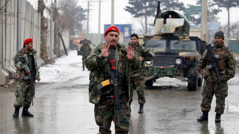 Afghan National Army soldiers in Kabul