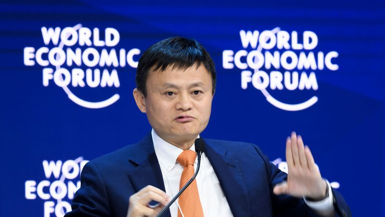 Alibaba founder Jack Ma recently spoke at the World Economic Forum in Davos