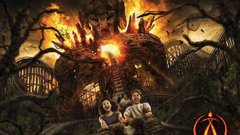 Alton Towers' new Wicker Man rollercoaster will feature a six-storey flaming structure