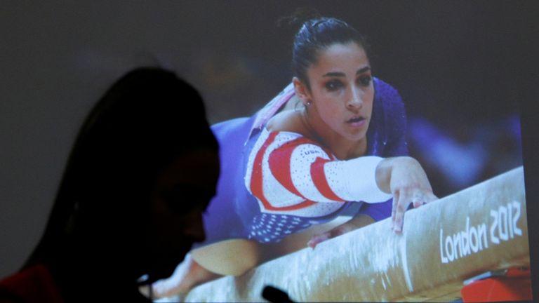 Former Olympic gymnast Aly Raisman gave evidence